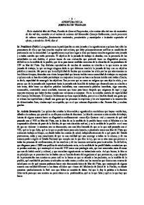 - 1 - APERTURA DE LA JORNADA DE TRABAJO