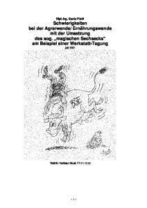 - 1 - Titelbild: Karikatur Musil, FR