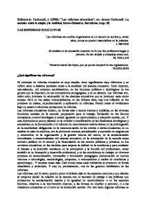 , 10) LAS REFORMAS EDUCATIVAS