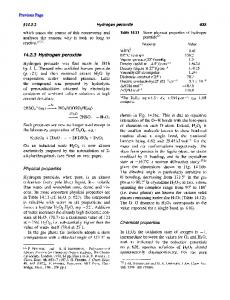 ---+ 2HS04- + H202. Physical properties. Chemical properties Hydrogen peroxide. Previous Page