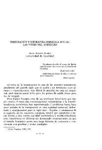 -7- INMIGRACION Y LITERATURA ESPANOLA ACTUAL: LAS VOCES DEL ESTRECHO