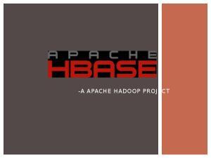 -A APACHE HADOOP PROJECT