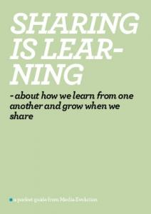 - about how we learn from one another and grow when we share