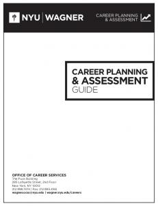& ASSESSMENT GUIDE CAREER PLANNING CAREER PLANNING & ASSESSMENT