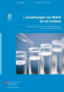 > Auswirkungen von REACH auf die Schweiz