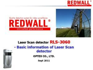 - Basic information of Laser Scan detector