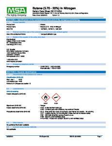 : Butane ( %) in Nitrogen