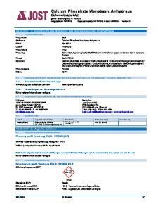 : Calcium Phosphate Monobasic Anhydrous
