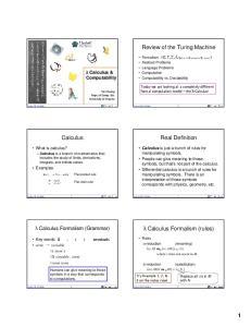 λ Calculus Formalism (rules)