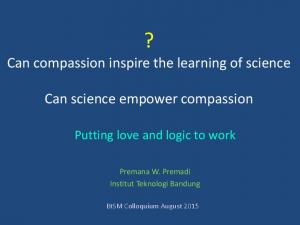 ? Can compassion inspire the learning of science