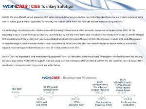 : CIGS Turnkey Solution