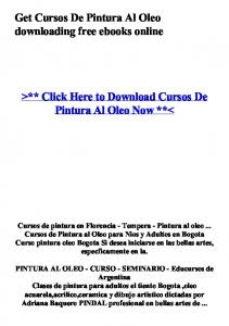 >** Click Here to Download Cursos De Pintura Al Oleo Now **