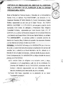 ~ CONVENIO DE PRESTACION DEL SERVICIO DE COMEDOR,