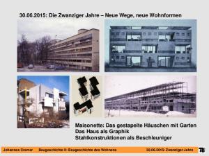 : Die Zwanziger Jahre Neue Wege, neue Wohnformen