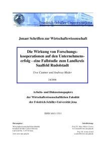 - eine Fallstudie zum Landkreis Saalfeld Rudolstadt