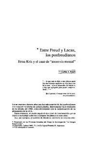 * Entre Freud y Lacan, los posfreudianos