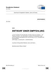 *** ENTWURF EINER EMPFEHLUNG