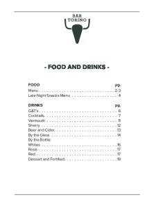 - FOOD AND DRINKS - Menu Late Night Snacks Menu... 4
