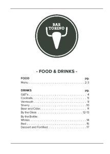 - FOOD & DRINKS - Menu
