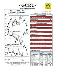 - GCRU- Weekly Trading Service