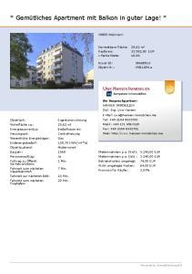 * Gemütliches Apartment mit Balkon in guter Lage! *