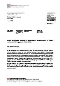 -in Birgit Berning. Entwurf eines Zweiten Gesetzes zur Modernisierung des Kostenrechts (2. Kostenrechtsmodernisierungsgesetz