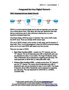 - Integrated Services Digital Network -