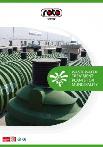 , ISO 9001 WASTE WATER TREATMENT PLANTS FOR MUNICIPALITY