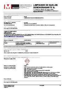 : LIMPIADOR DE SUELOS DESENGRASANTE 5L