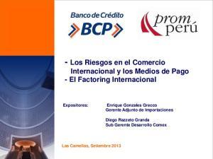 - Los Riesgos en el Comercio Internacional y los Medios de Pago - El Factoring Internacional