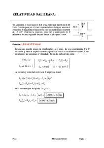 ( ) m RELATIVIDAD GALILEANA: ( t) = v. ( t) = r B,0. ( t) = a. ( t) = r ( ) = ( t) r
