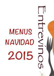 ! MENUS NAVIDAD 2015