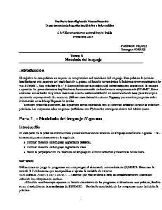 : Modelado del lenguaje N-grama