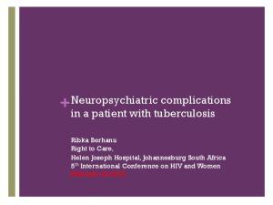 + Neuropsychiatric complications