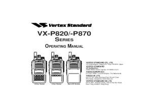 -P870 SERIES OPERATING MANUAL