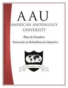 -Plan de Estudios- Doctorado en Rehabilitacion Deportiva
