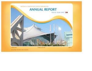 < PREVIOUS DOWNLOAD PDF NEXT > San Diego Convention Center Corporation