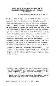 ** Professor do Departamento de Geog~afia eg9 Mes trado em Arquitetura e Urbanismo da FAUFBa