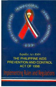 : Republic ACT 8504 *, THE PHILIPPINE AIDS EVENTION AND CONTROL