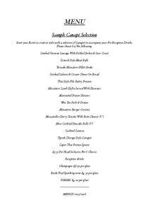 ! Sample Canapé Selection!