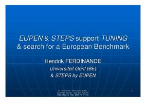 & search for a European Benchmark