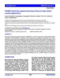 δ selectively regulates phenotypic features of age related macular degeneration