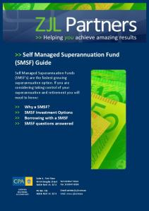 >> Self Managed Superannuation Fund (SMSF) Guide