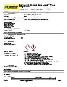 : Sentinel 505 Smoke & Odor Laundry Wash