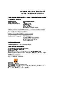 : SOSA CAUSTICA PERLAS