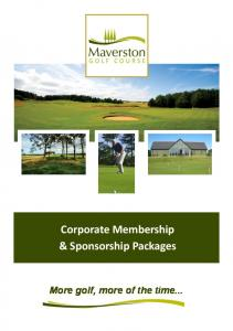 & Sponsorship Packages