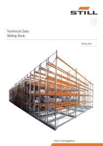 @ Technical Data Sliding Rack. Sliding Rack