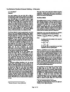 { } Two Methods of Gradient-Enhanced Gridding A Discussion. C. D. Hardwick * Summary. Page 1 of 10