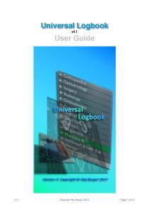 !! Universal Logbook! User Guide! v4.1