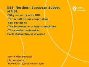 -Why we work with UBL